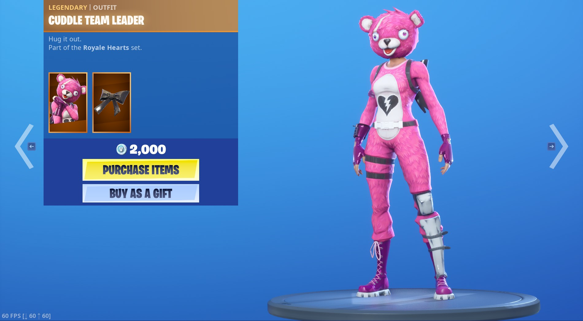 Legendary Cuddle Team Leader Outfit