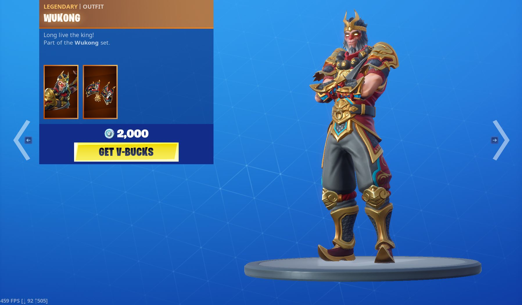 Legendary Wukong Bundle Outfit
