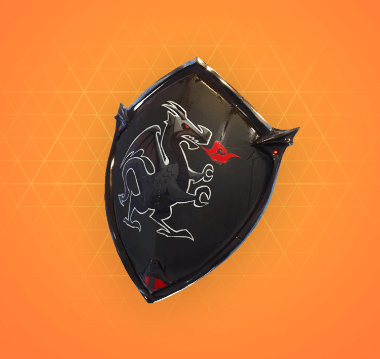Legendary Black Shield Back Bling
