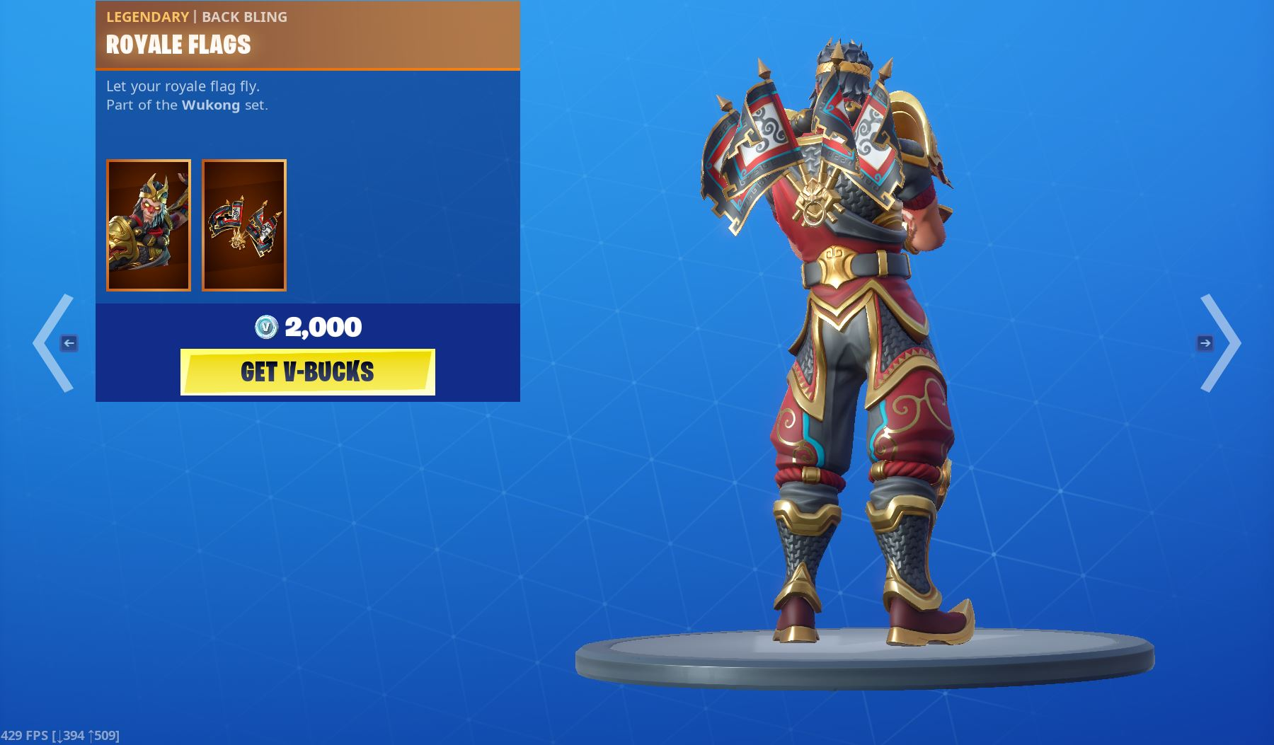 Legendary Royale Flags Back Bling