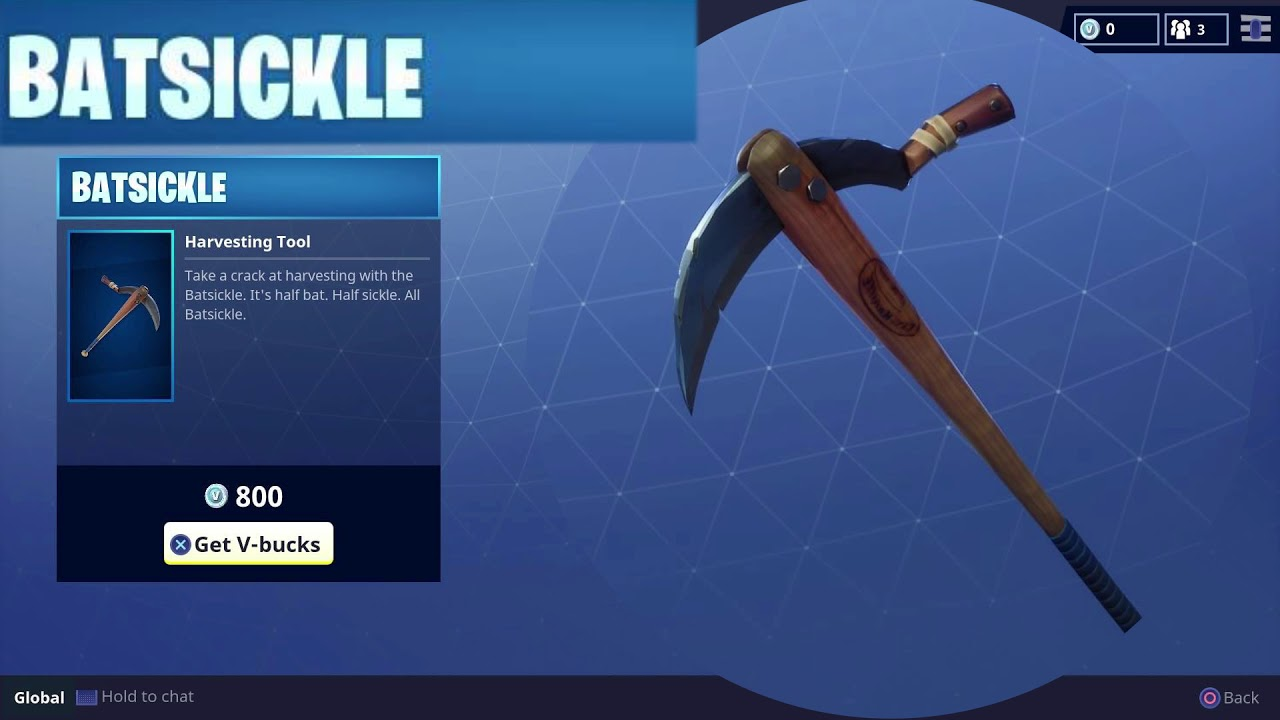 Rare Batsickle Pickaxe
