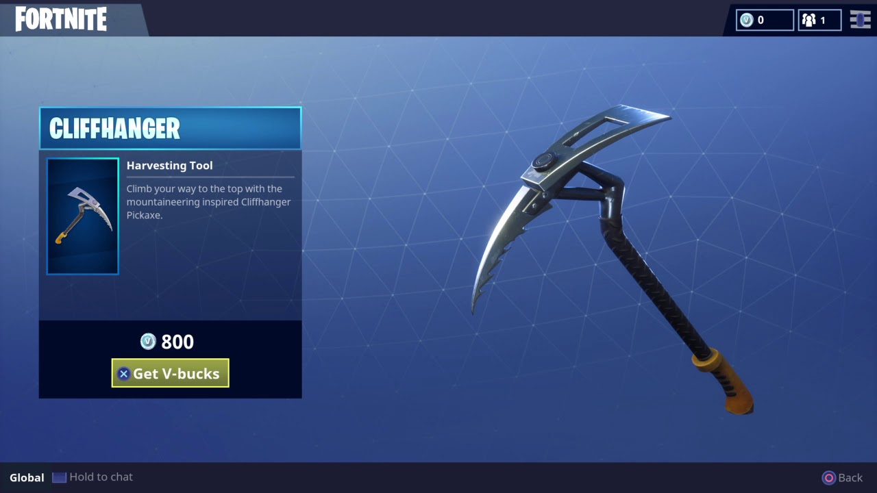 Rare Cliffhanger Pickaxe