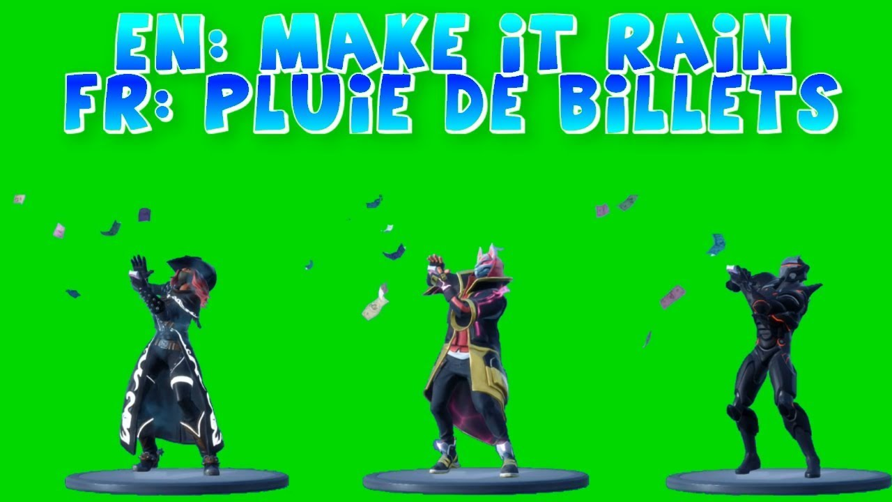 Rare Make it Rain Emote