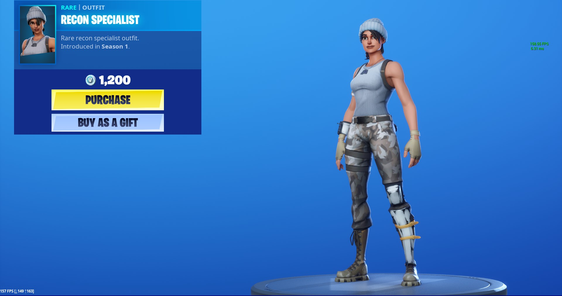 Rare Recon Specialist Outfit