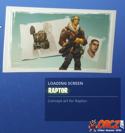 Uncommon Raptor Loading Screen