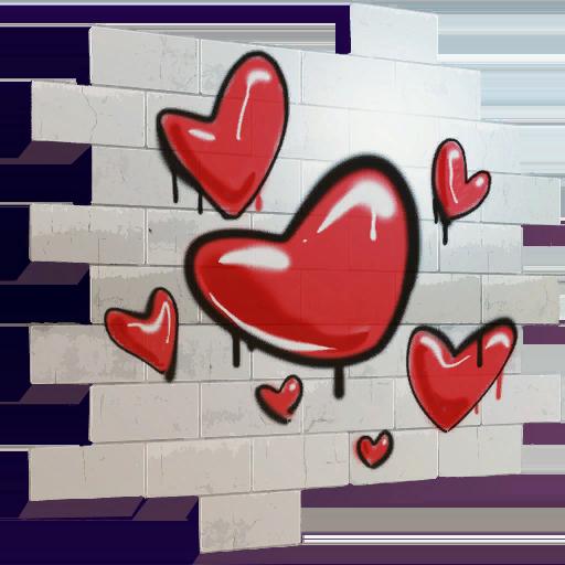 Uncommon Hearts Spray Fortnite Cosmetic Tier 22 (S4