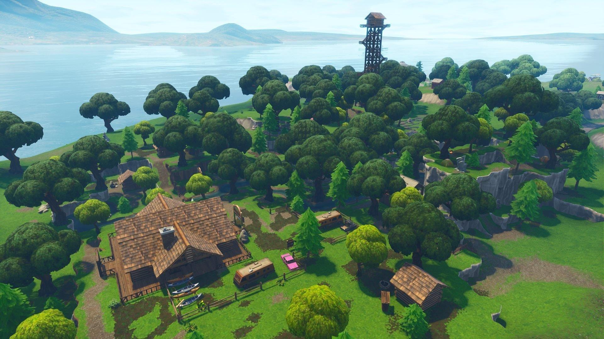 Lonely Lodge Mansion Fortnite Chest in J6