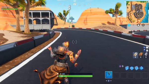 Race Track Fortnite Chest in I6