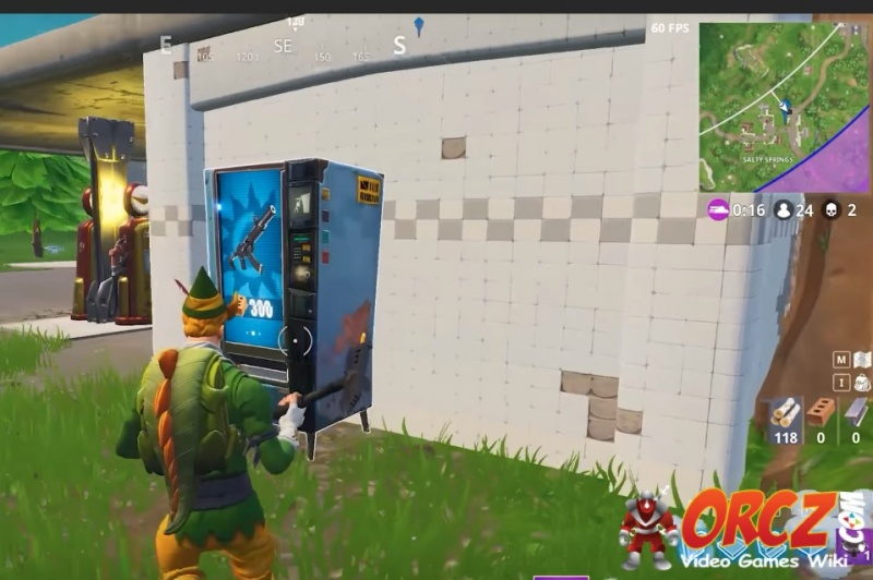 Salty Springs Fortnite Vending Machine in F7