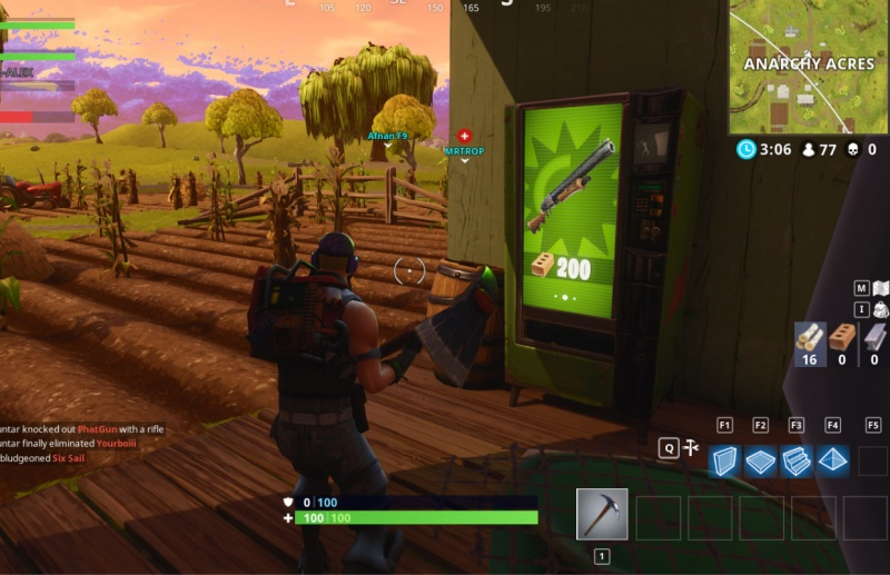 Anarchy Acres Fortnite Vending Machine in F2