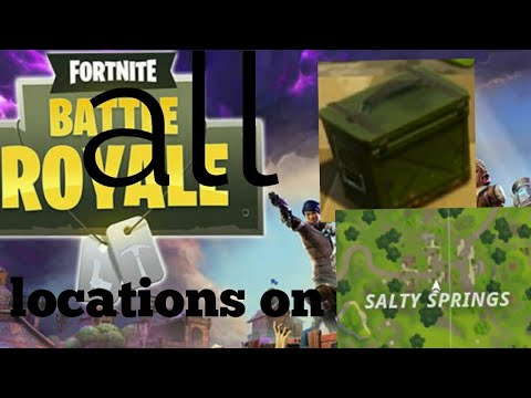Salty Springs Fortnite Ammo Crate in F7