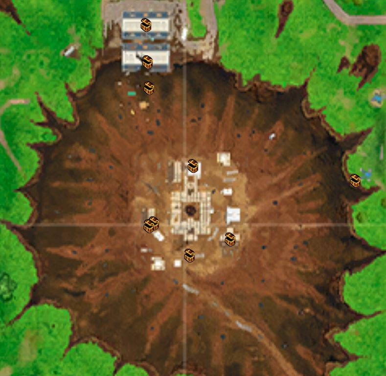 Dusty Divot Fortnite Chest in F6