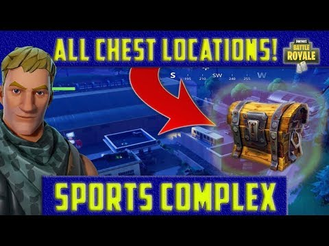 Soccer Pitch Fortnite Ammo Crate in C5